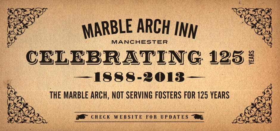 Marble brewery 125 year celebrations