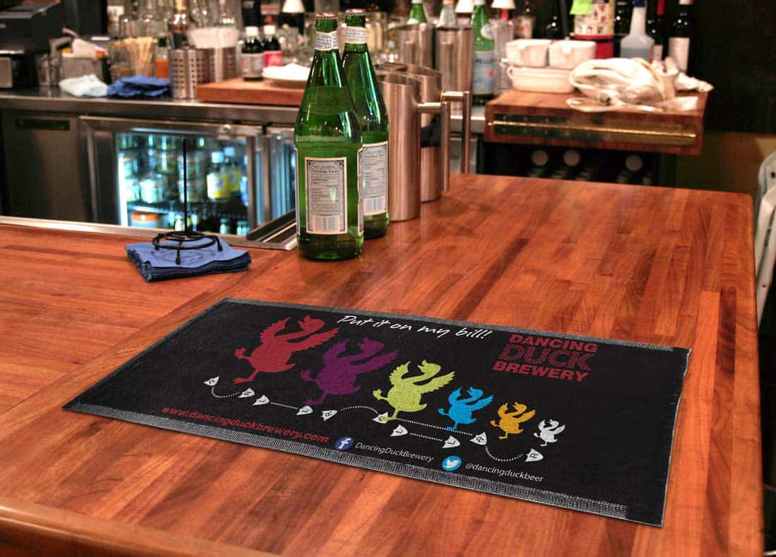 Dancing Duck Bar Runner Design