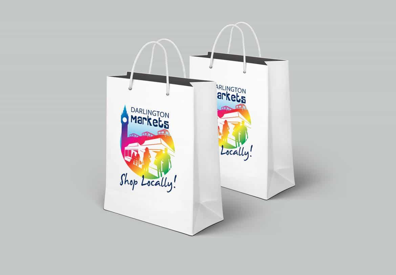 Darlington Markets Bag Design - North East Design Studio, Darlington
