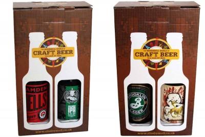 craft beer bottle box design