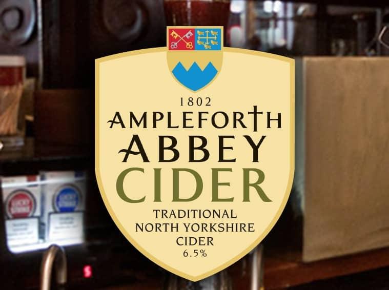 Ampleforth Abbey Cider - Pump Clip Design