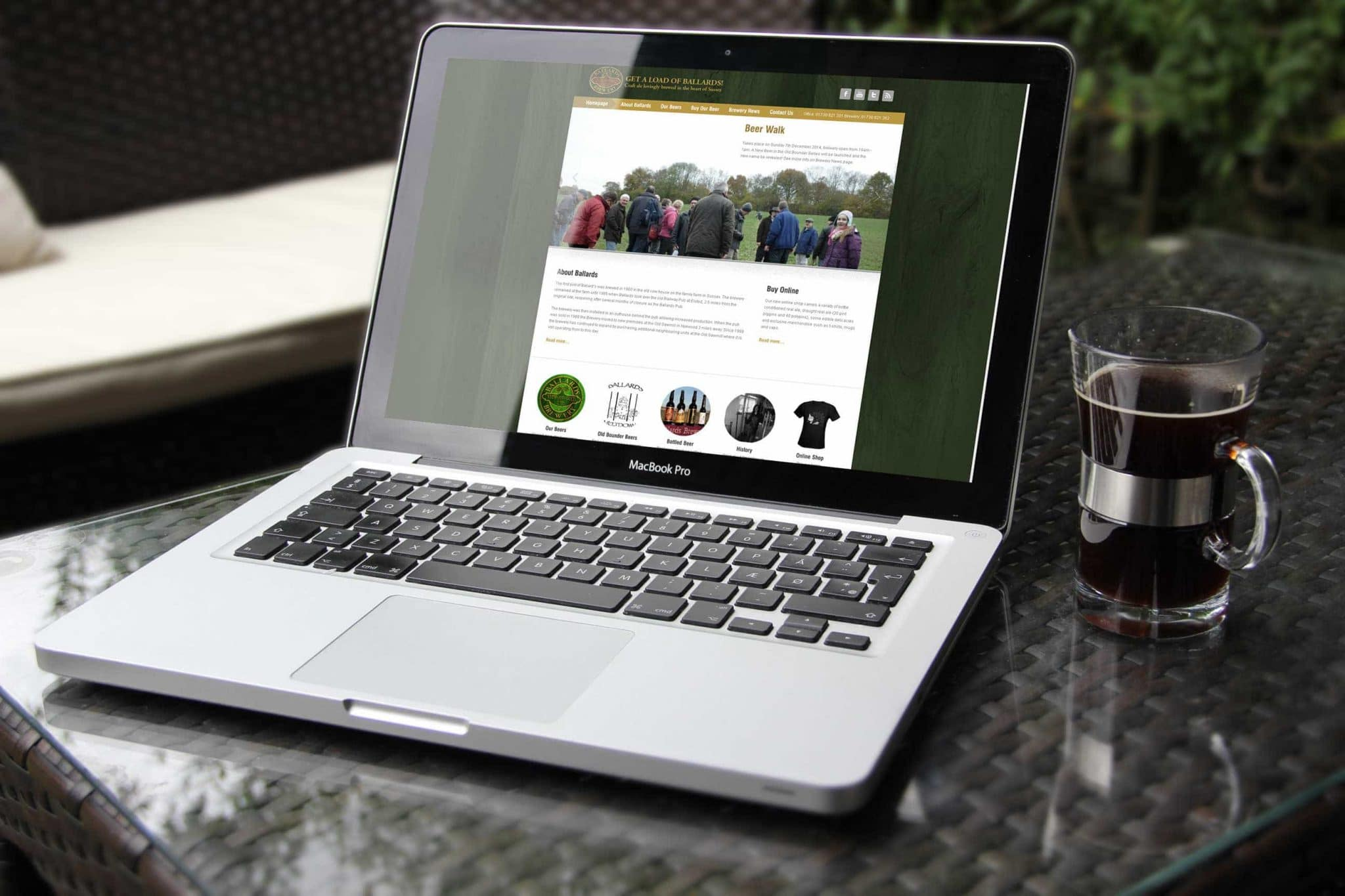 Ballards brewery website design