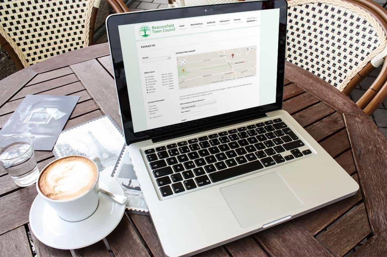 Mobile website design for beaconsfield council