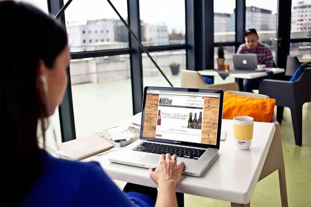 Mobile friendly website beer ecommerce design