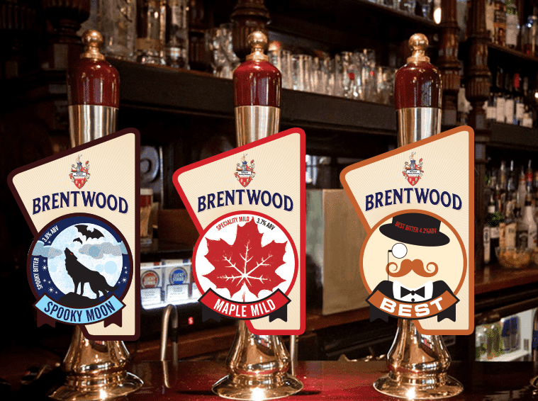 Brentwood Spooky Moon, Maple Mild and Best Pump Clip design