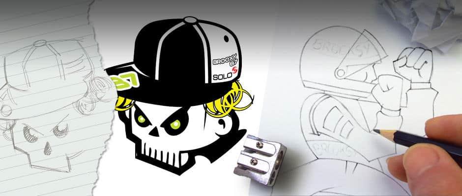 brooxy_skull logo design darlington