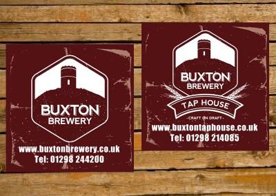 Buxton Tap House beer mat design