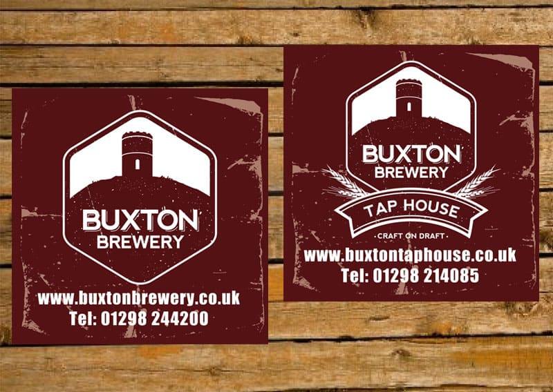 Buxton Tap House beer mat design