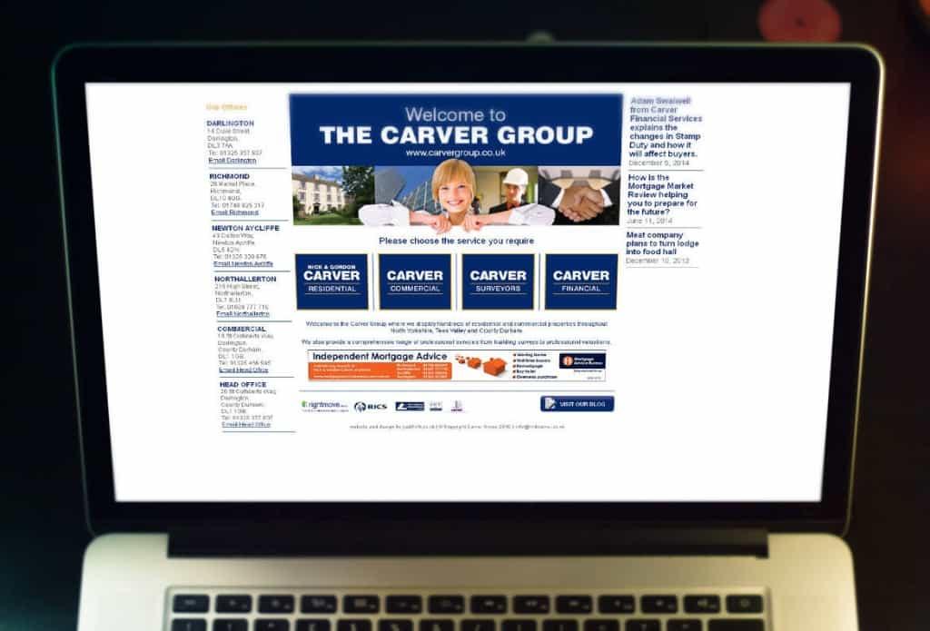 Carver group website design darlington