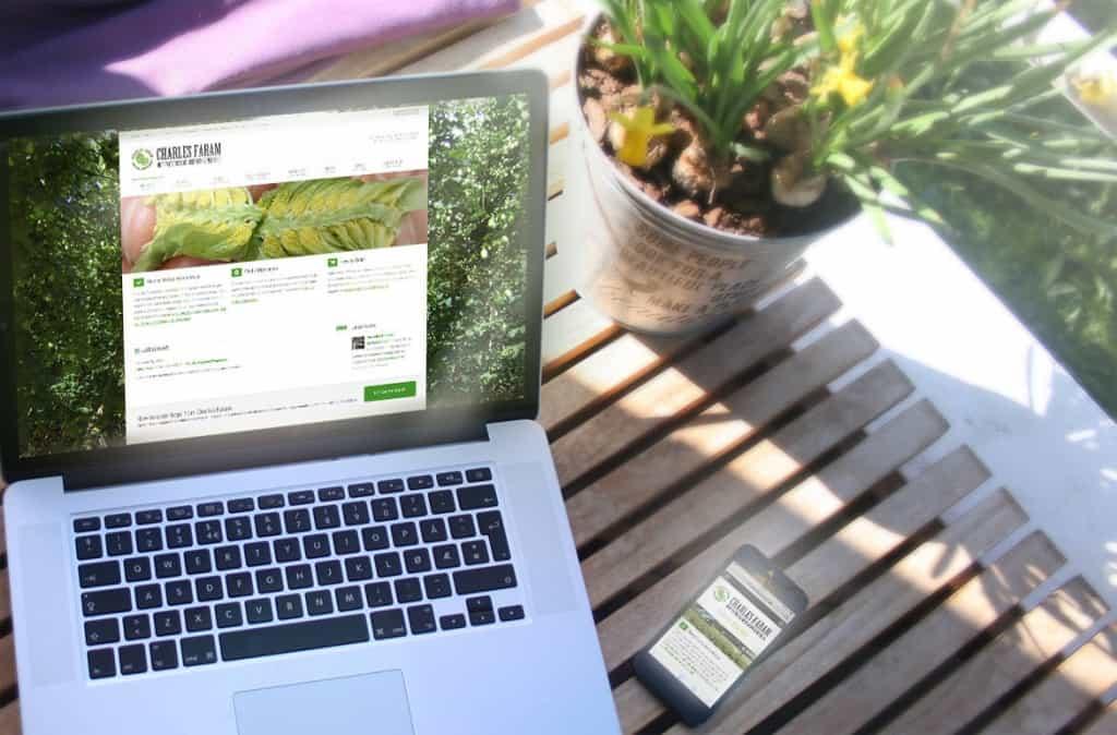 Charles Faram mobile friendly website design