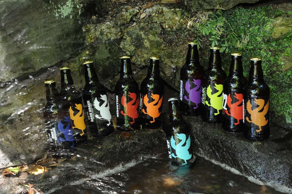 Dancing Duck Beer Bottle Label Design