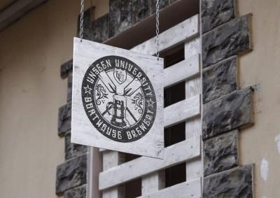 Unseen University Boathouse Brewery Creative Logo Design