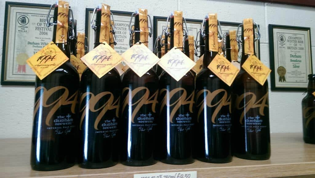 Durham Brewery bottle label design