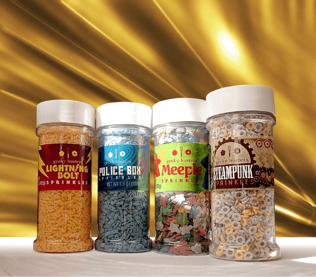 Geeky Sprinkles Label Design