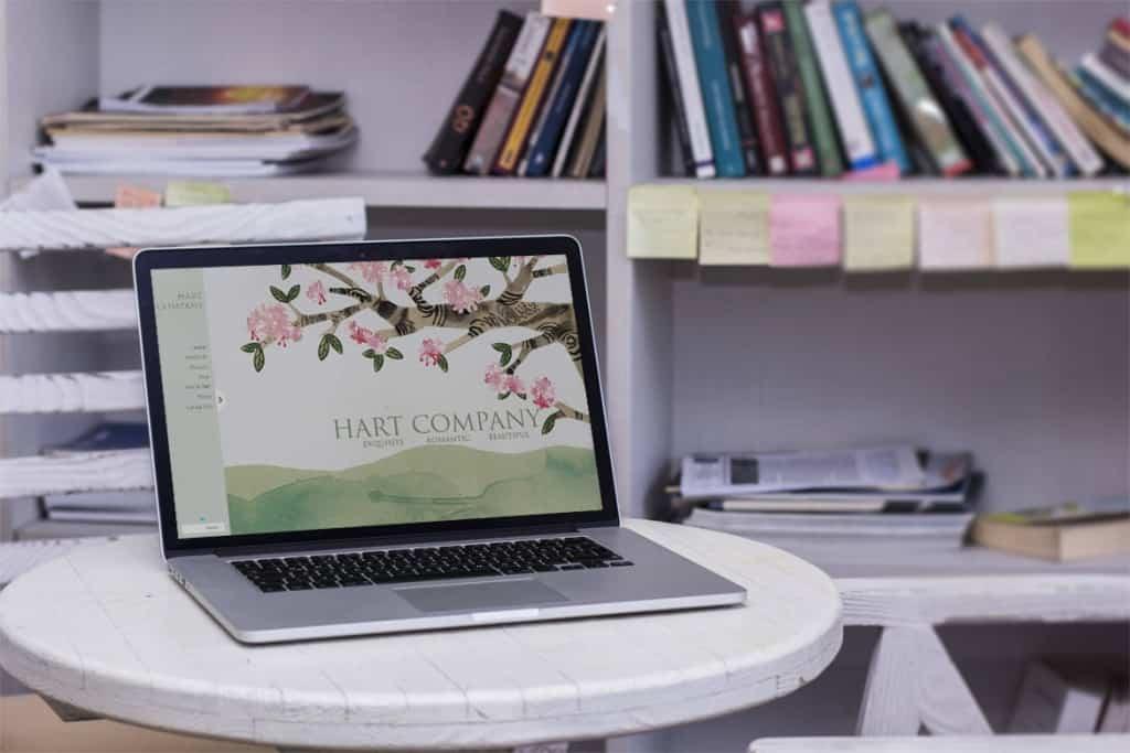 hart-company website design