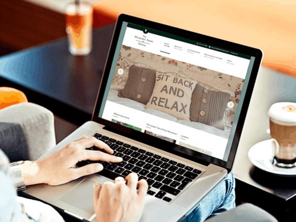 Milburn arms website design