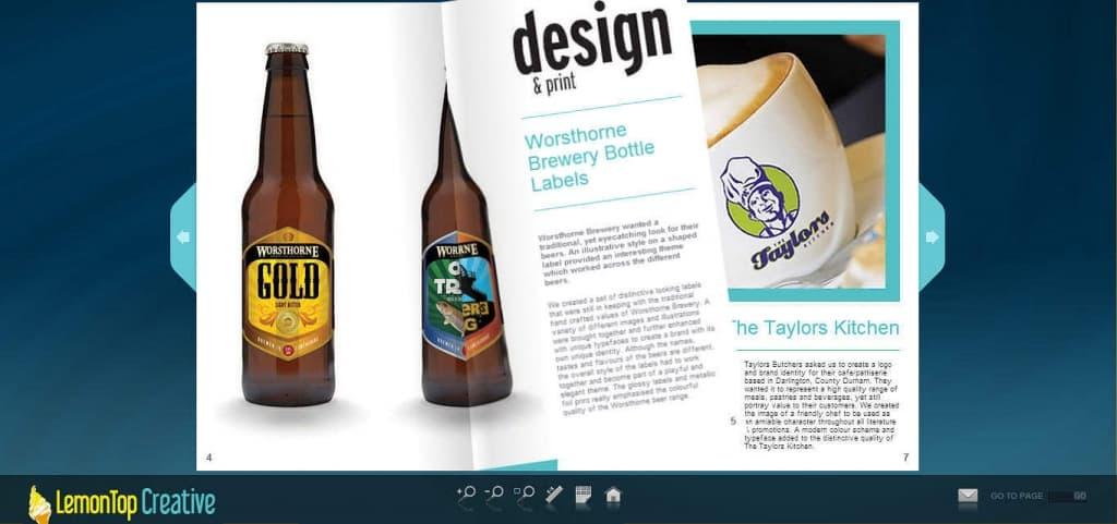 Online Brochure Design