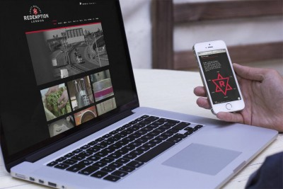 Redemption Brewery Responsive Website Design shown on mobile and laptop