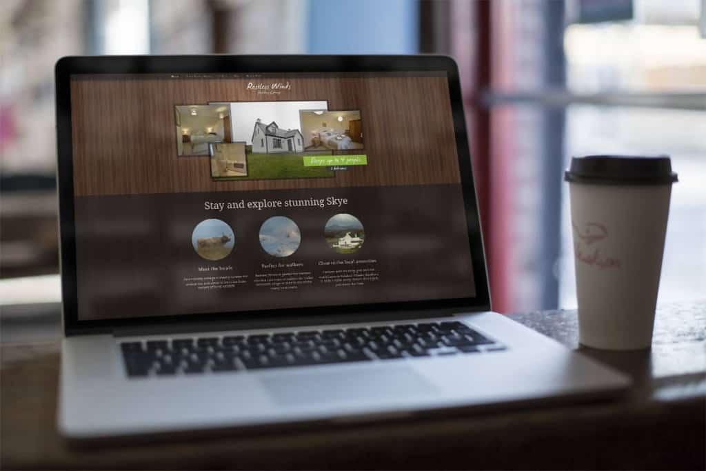 Holiday cottage website design