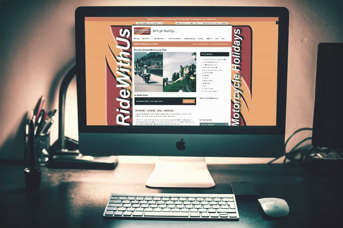 Ride with us - mobile friendly website design