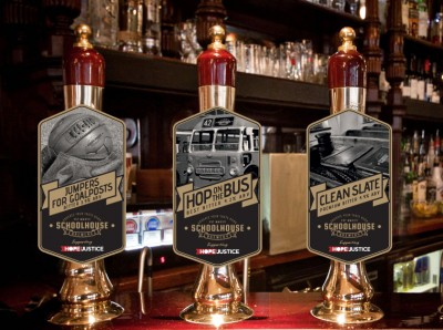 Pump Clip Design for Schoolhouse Brewery