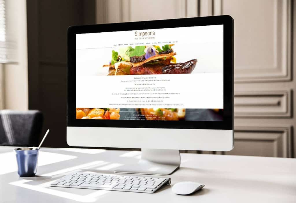 Simpsons Restaurant Website designers