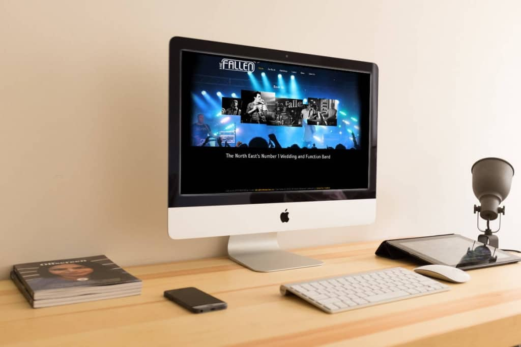 Fallen Live website design
