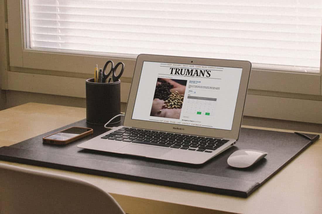 Trumans brewery booking website design