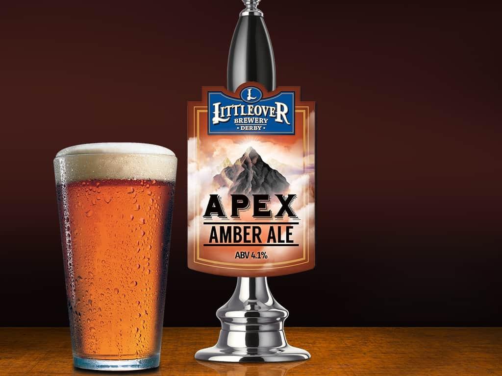 Littleover Brewery Apex Amber Ale Pump Clip