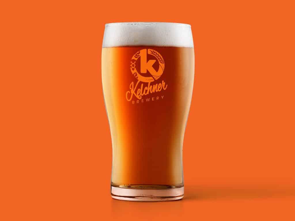 Kelchner Brewery Glass Mockup