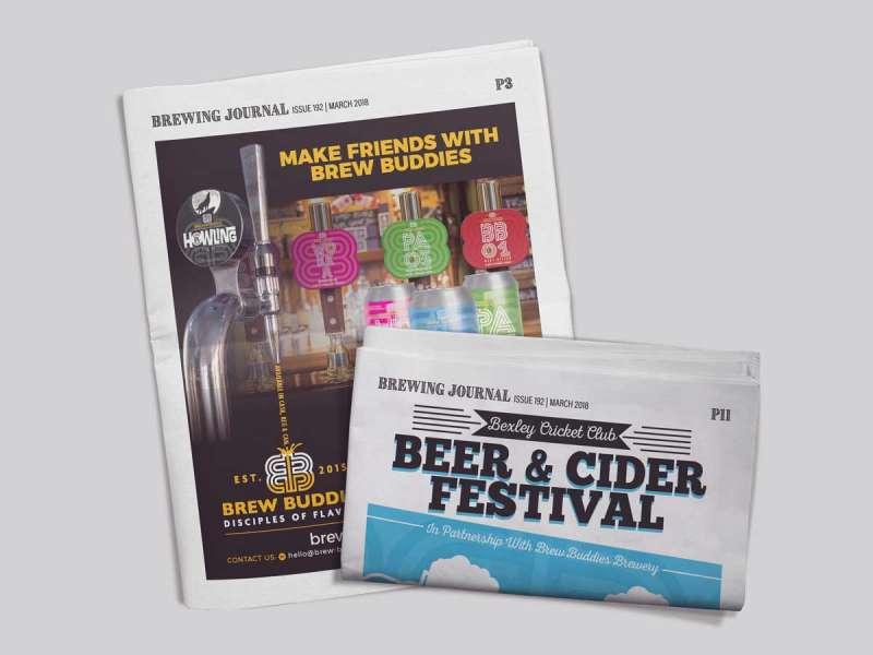Brew Buddies Press Advertising