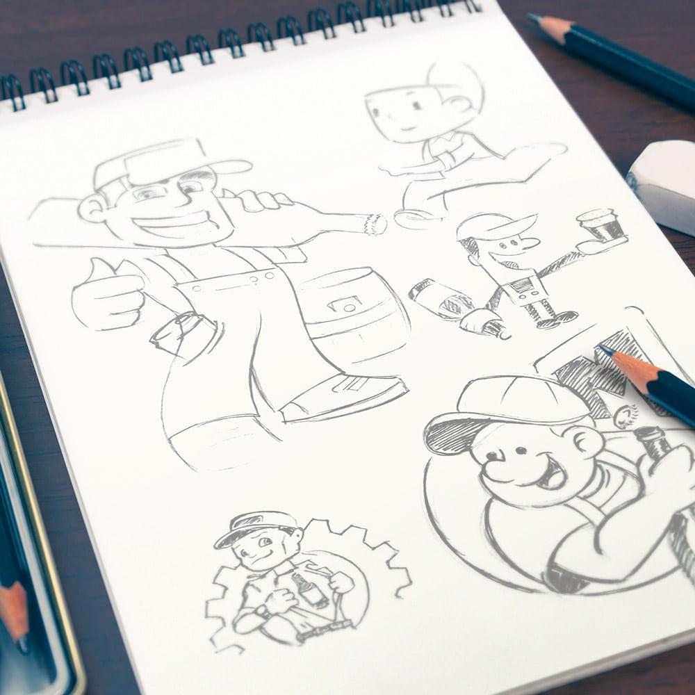 mechanic-sketchbook-portrait-square