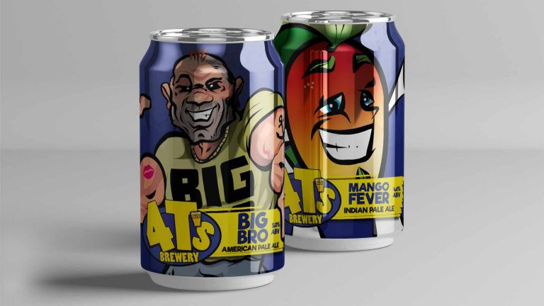 4T's Brewery Brewery Case Study Big Bro and Mango Cans
