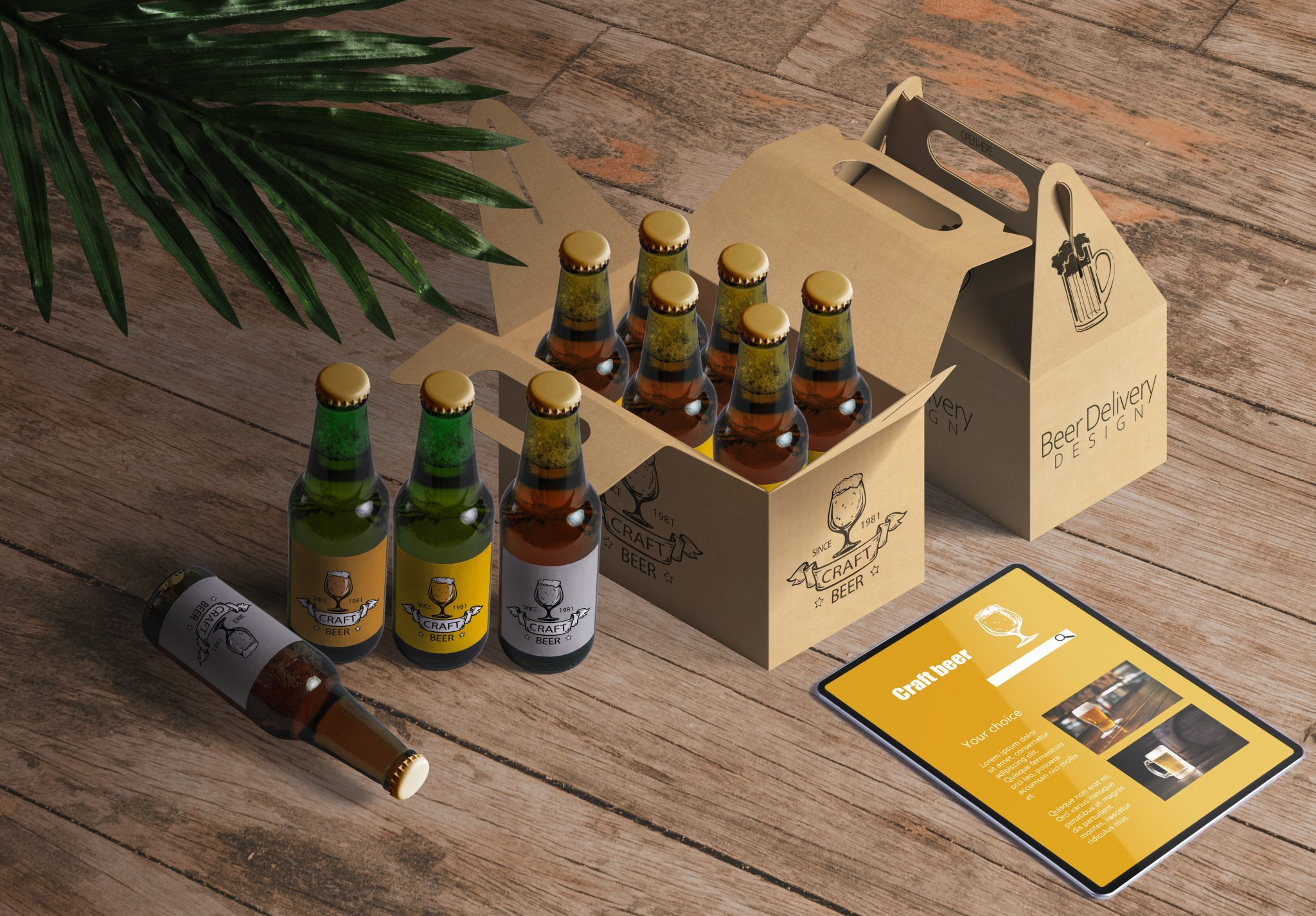 beer bottle box packaging