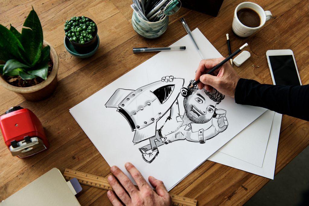 Brand Mascot Rare Rockets Craig Sketch