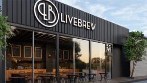 LiveBrew Brand Design LiveBrew Bar Front